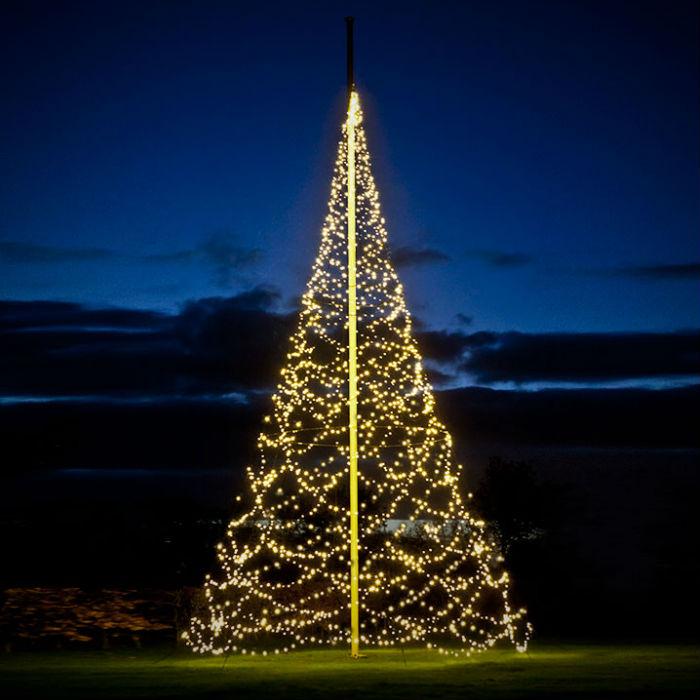 Flaggstångsbelysning | Julbelysning Fairybell Deluxe 10- 12m 4000 LED