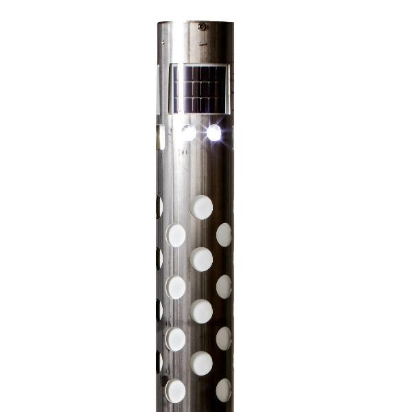 Ljuspollare | Soldriven Pollare i Rostfritt stål 1.0