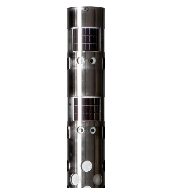 Ljuspollare   Soldriven Pollare i Rostfritt stål 2.0