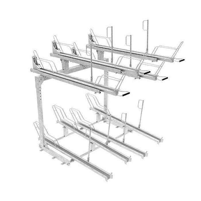 Tvåvånings Cykelställ   2-vånings cykelställ Tornet Pro med utdragbar skena & gasfjäder