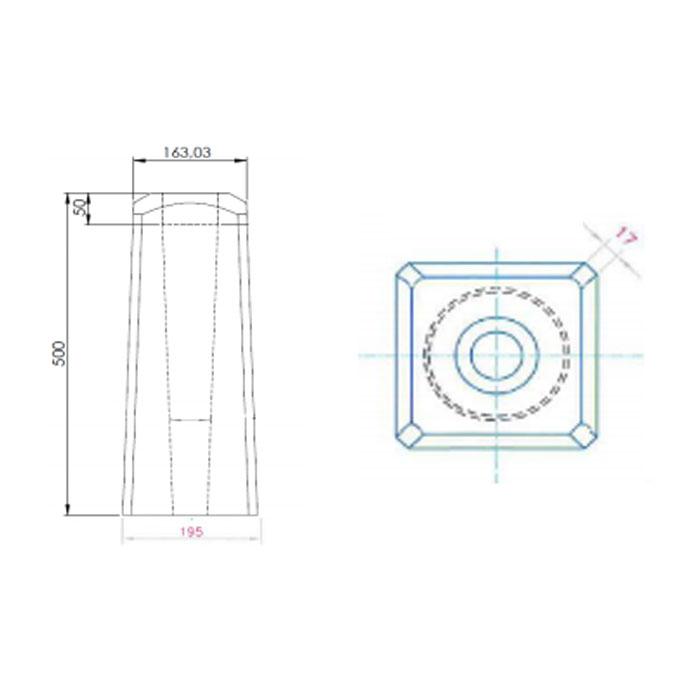 Trafikskyltar   Fundament för Stolprör 60 mm 30kg